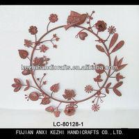 unique flower and birds hanging wreath