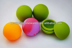 FDA approved food grade non stick oil bho dab slick ball shaped silicone wax container dab bho oil