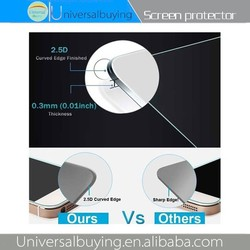 Hot selling mobile phone screen protector with 9H hardness and 0.26mm thickness and anti explosion and waterproof for Vivo Y22