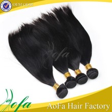 Wholesale cheap silk straight unprocessed indian remy hair extentions