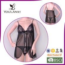 sexy open quick dry transparent factory in China black sex women lingerie garter belt hot sex image