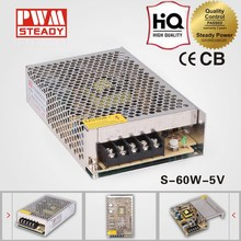 5v 60w CCTV Camera/LED Strips/Elevator power supply unit with CE approved