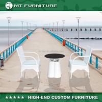 Modern White Cane Furniture Outdoor Rattan Conversation Set