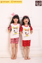 Girls bright-colored printed homewear branded kids clothes girls top design
