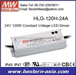 High Efficiency LED Driver 120W Meanwell HLG-120H-24A