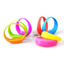 Fashion party mini led Silicone flashing bracelet gift