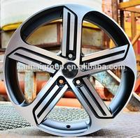 MB dish wheel rim with bright rivet alloy wheel