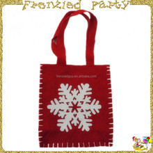 hand bag christmas bags santa sack with snowflake FGCS-0013