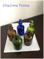 Hottest Sale New Style Custom Made Ceramic Oil Glass Bottle With Glass Caps