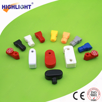 Highlight SL001 EAS red plastic magnetic key stop lock with 4/5/6/7/8mm hole/retail hook lock for display security