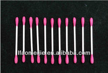 100pcs pink or red paper stick colored lint free cotton swabs