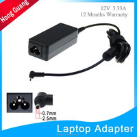 lower power 12v 3.33a dc tip 2.5x0.7mm laptop adapter for Samsung