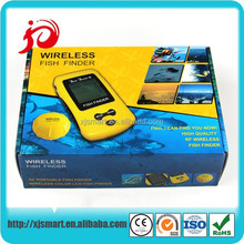 New portable wireless fish finder for bait boat with LCD display