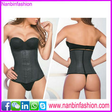 2015 new listing underbust natural 5A cortislim latex corset