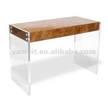 Flat computer desk acrylic tabletop display