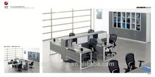 Made in China two clusters fancy office workstation table
