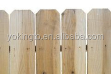 Paulownia wood dog ear fence