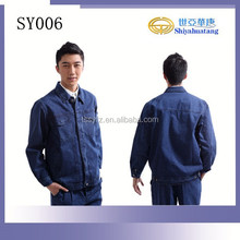 new design denim work wear with long sleeve