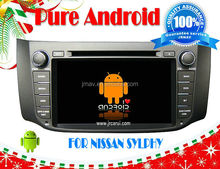 Pure Android 4.2 car audio DVD navigation system FOR NISSAN Sylphy RDS,Telephone book,AUX IN,GPS,WIFI,3G,Built-in wifi dongle