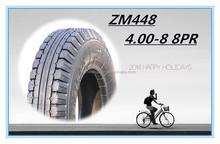MOTORCYCLE TYRE AND TUBE 4.00-8 8PR DOUBLE BRIDGE ZM448