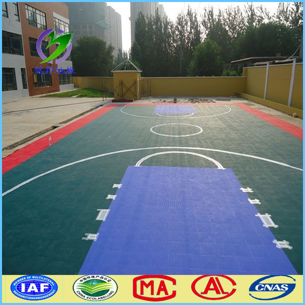 Shijiazhuang outdoor used basketball sport court floor for Basketball court flooring cost