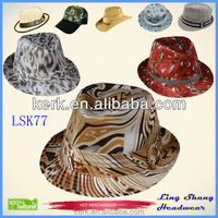 LSF77 New Fashion Vintage Women Wide Brim Ribbon Warm Blend Felt Hat Bowler Trilby Fedora Cap Cowboy Hat