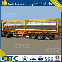 CITC trailer, fuel oil tank truck trailer, large capacity fuel tank truck trailer