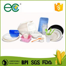 Biodegradable and disposable other tableware for dosmetic use