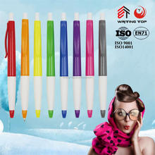 Colorful promotional gift plastic pen with printing for company promo gift