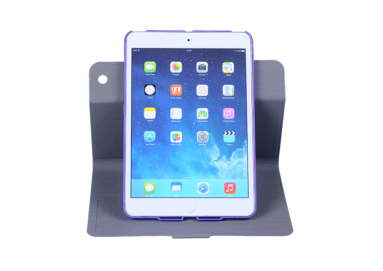 Wholesale leather case for ipad mini manufacturer, 360 rotating case for Ipad mini