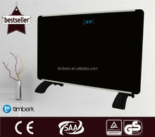 New product: black glass panel convector heater with LCD panel and remote control