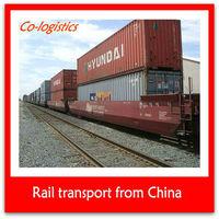 Railway transport to Moscow Russia from Shanghai Yiwu Tianjin Qingdao Dalian Xiamen Shenzhen Guangzhou China
