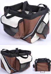 Bicycle bike front box pet carrier basket for pet dog cat puppy carrier travel basket