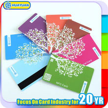 Supermarket CMYK printing plastic barcode membership loyalty card with magnetic strip