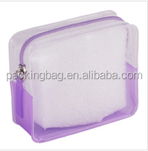 OEM Size PVC Plastic Makeup Promotional Gift Packaging Bags With Top Zipper