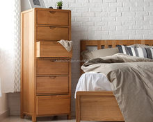 Top quality hot-sale vintage dark felt chest of 5 drawers
