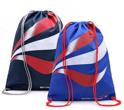 Wholesale China Goods,Canvas Drawstring Backpack With Metal Eyelets