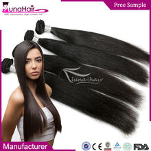 Can be dyed natural color unprocessed wholesale 100 percent indian remy human hair