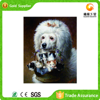 Manufacturer supply fashion gift for room decoration painting&calligraphy animal diy diamond painting crystal