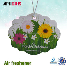 Promotional products car make hanging paper air freshener