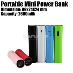Promotional Gifts! 2600 2200 2000 mAh Mobile Phone External Battery Power Bank Made in China