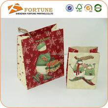 Popular 3d santa claus paper gift bags, paper bag turkey craft, fancy paper gift bag