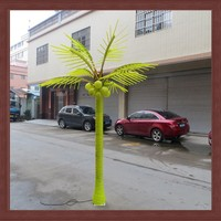 2015 new product artificial LED coconut palm tree light 4m for festivial outdoor decoration lighting