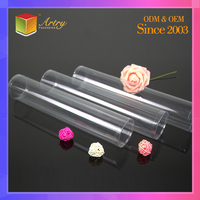 Clear PET/PVC Cylinder,Plastic Pipe And Clear packaging Tube