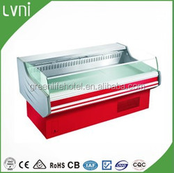 2.5m hot sale Grocery Display Chiller for Vegetables, Fruits, Deli and Fresh Meat