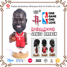 resin polyresin customized NBA bobble head doll NBA basketball player