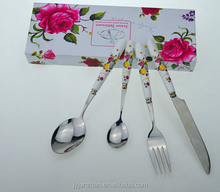 Korean stainless steel cutlery sets with nice gift box packing and new design--Junzhan Factory