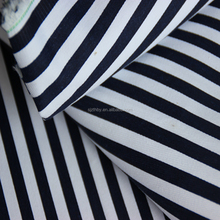 custom 100% cotton navy blue and white stripe fabric used bed sheets