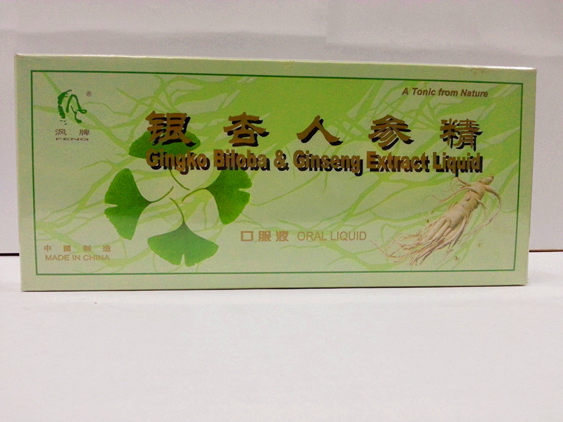 Bebida energética-Ginkgo Biloba & Ginseng Líquido Oral