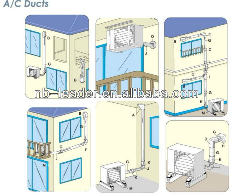 Air Conditioning Ducts Support Details : Air conditioner duct buy ac line set cover
